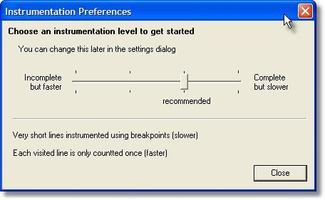 Coverage instrumentation preferences (new)