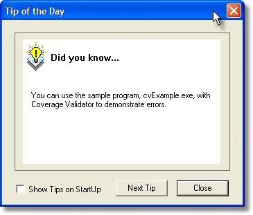 Tip of the day dialog
