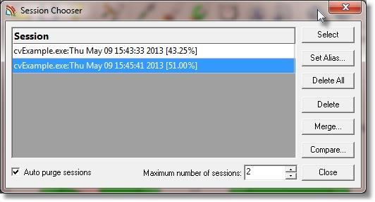 Session Manager Dialog